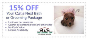 cat grooming coupon-Indianapolis location 2015