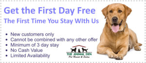 pet boarding coupon- 2015 Indianapolis area